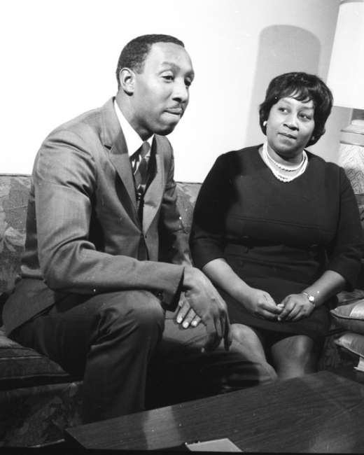 Dwight H Johnson with wife